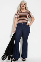 Forever 21 FOREVER 21+ Plus Size Flared Jeans (Short)