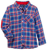 Andy & Evan Bright Blue Plaid Flannel Shirt (Toddler & Little Boys)