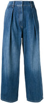 Brunello Cucinelli wide-legged cropped jeans