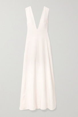 Michael Lo Sordo Silk-satin Maxi Dress - Ivory