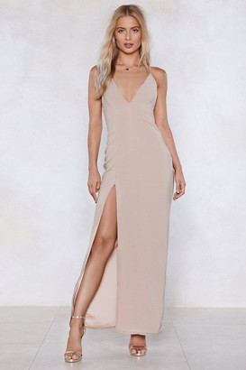 Nasty Gal Womens Thighs the Limit Maxi Dress - Sand