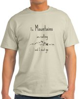 CafePress - The Mountains Are Calling T-Shirt - Unisex Crew Neck Cotton T-Shirt, Comfortable & Soft Classic Tee with Unique Design