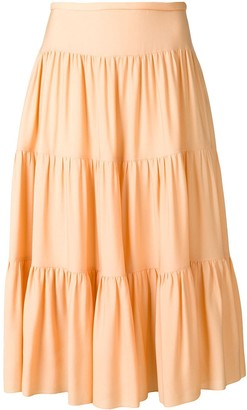Chloé Tiered Midi Skirt