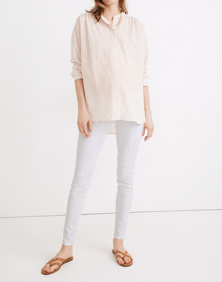 Madewell Maternity Side-Panel Skinny Jeans in Pure White: Adjustable Edition
