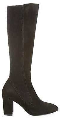 Stuart Weitzman Women's Livia Faux-Suede Block-Heel Boots