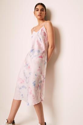 French Connenction Sadie Tie Dye Slip Dress