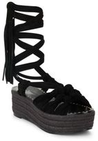 Sigerson Morrison Cosie Fringed Leather Espadrilles