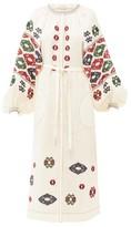 Vita Kin - Bodrum Embroidered Linen Dress - Womens - Cream