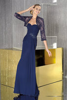Alyce Paris - Intricately Ruched Chiffon Long Evening Gown 29384