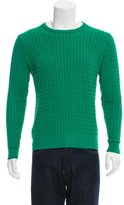 Ami Alexandre Mattiussi Cable Knit Crew Neck Sweater