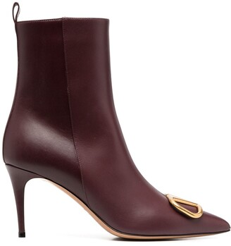 Valentino VLOGO pointed-toe ankle boots