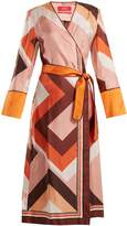 F.R.S - FOR RESTLESS SLEEPERS Dolos geometric-print silk wrap dress