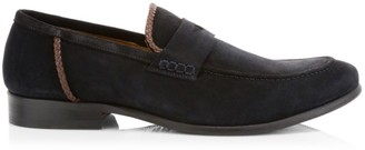 Eleventy Suede Penny Loafers