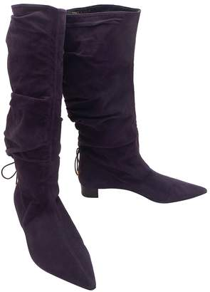 Gucci \N Purple Suede Boots