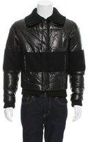 Z Zegna Leather Wool-Paneled Jacket