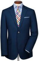 Charles Tyrwhitt Classic Fit Navy Italian Cotton Cotton Blazer Size 40 Long