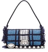 Miu Miu Woven-raffia shoulder bag