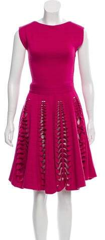Maison Rabih Kayrouz Wool Cutout Dress