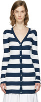 Dolce & Gabbana Navy Striped Long Cardigan