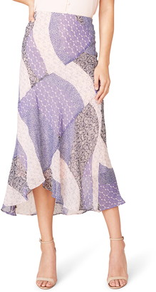 BB Dakota Patch Me In Bias Cut Midi Skirt