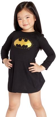 Intimo Girls' Nightgowns PR770: - Batgirl Black & Gold Logo Nightgown - Toddler