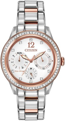 Citizen Women's Silhouette Crystal Eco-Drive Stainless Steel Watch, 37mm