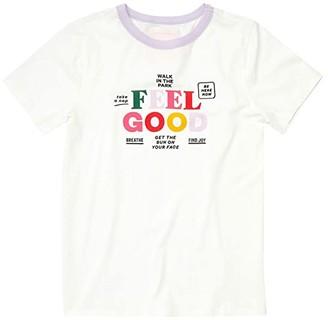 ban.do Feel Good Ringer Tee (White) Women's Clothing