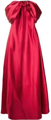 Alberta Ferretti off-the-shoulder wrapped bow gown