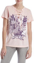 Jessica Simpson Lace-Up Graphic Tee