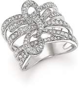 Bloomingdale's Diamond Multi-Row Bow Ring in 14K White Gold, 1.0 ct. t.w.