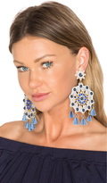 Mercedes Salazar X REVOLVE Aretes Fiesta Blue Mandala Earring in Blue & Grey
