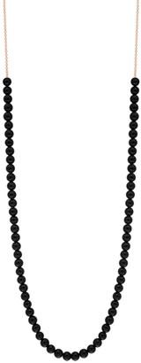 ginette_ny Mini Boulier Black Onyx Necklace - Rose Gold