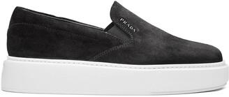 Prada Platform Slip-On Sneakers