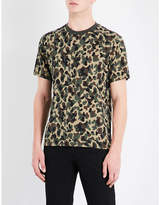 Sandro Camouflage-print Cotton-jersey T-shirt