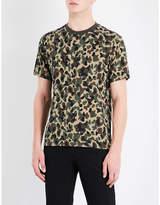 Sandro Camouflage-print cotton-jersey T-shirt