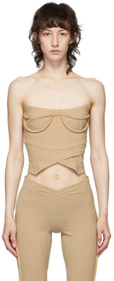 Charlotte Knowles Tan Lily Bustier