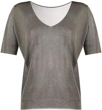 Roberto Collina V-neck knit T-shirt