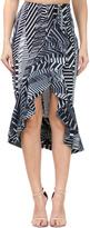 Black & Gray Ruffle Hi-Low Skirt