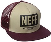 Neff Men's Trucker Hat, Twill/Maroon, One Size