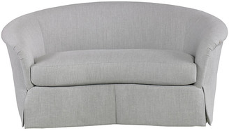 Mr & Mrs Howard Crescent Loveseat - Dove Gray Linen