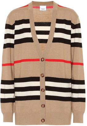 Burberry Striped merino wool cardigan