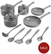 Swan 5 Piece Pan Set With 5 Piece Utensil Set Slate