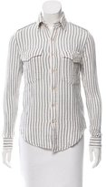 Mother Striped Button-Up Top