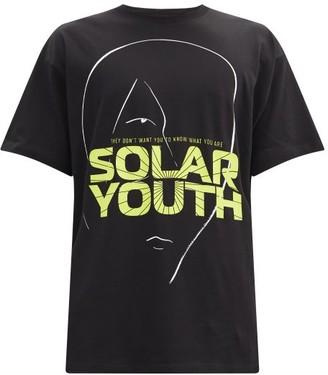Raf Simons Solar Youth-print Cotton-jersey T-shirt - Black