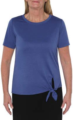 ST. JOHN'S BAY SJB ACTIVE Active Petite-Womens Crew Neck Short Sleeve T-Shirt