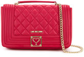 Love Moschino quilted shoulder bag - women - Polyurethane - One Size