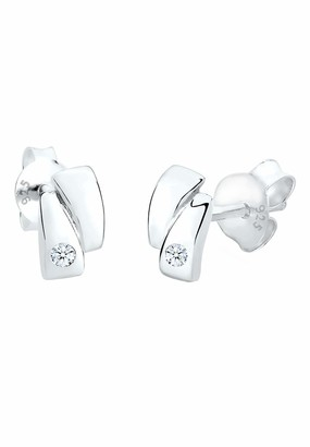 Diamore Women's Stud Earrings 925 Sterling Silver and White Diamond 0309562613