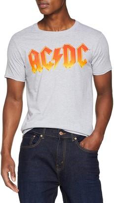 AC/DC Men's Classic Vintage Logo T-Shirt Grey (Sports Grey Spo) Xx-Large