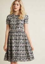 ModCloth Oh My Retro Midi Shirt Dress in 12 (UK)