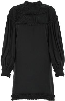 Fendi Ruched Trim Mini Dress